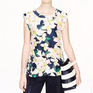 NWOT J. CREW Sleeveless Top in Cove Floral. Size 4